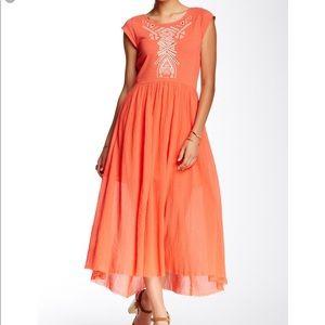 NWT Free People Toosaloosa Slub Meadow Dress S